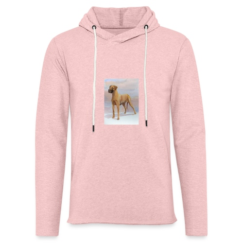 Great Dane Yellow - Let sweatshirt med hætte, unisex