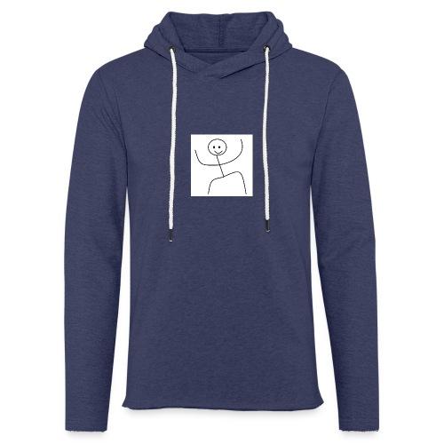 lady t-shirt stick man - Let sweatshirt med hætte, unisex