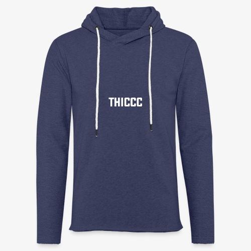thiccc text logo WHITE - Light Unisex Sweatshirt Hoodie