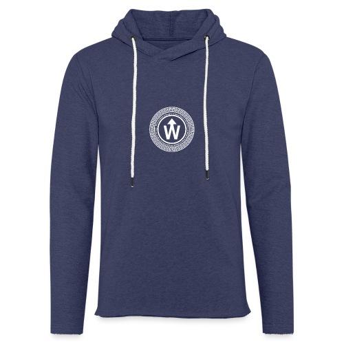 wit logo transparante achtergrond - Lichte hoodie unisex