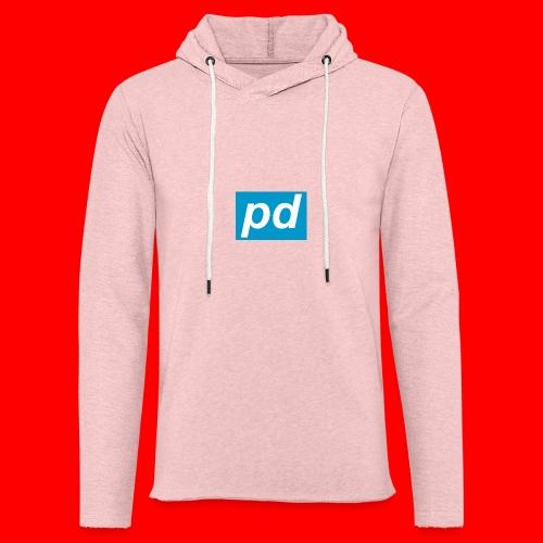 pd Blue - Let sweatshirt med hætte, unisex