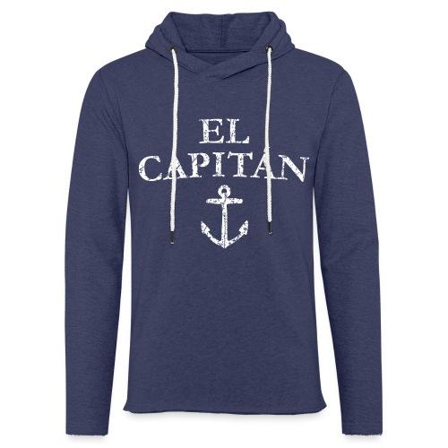 El Capitan Anker (Vintage Weiß) Kapitän Käpt'n - Leichtes Kapuzensweatshirt Unisex