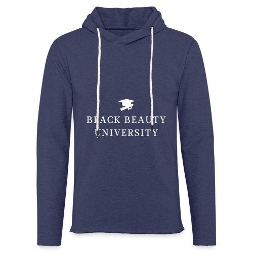 BLACK BEAUTY UNIVERSITY LOGO BLANC - Sweat-shirt à capuche léger unisexe