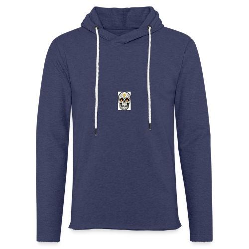 tete de mort - Sweat-shirt à capuche léger unisexe