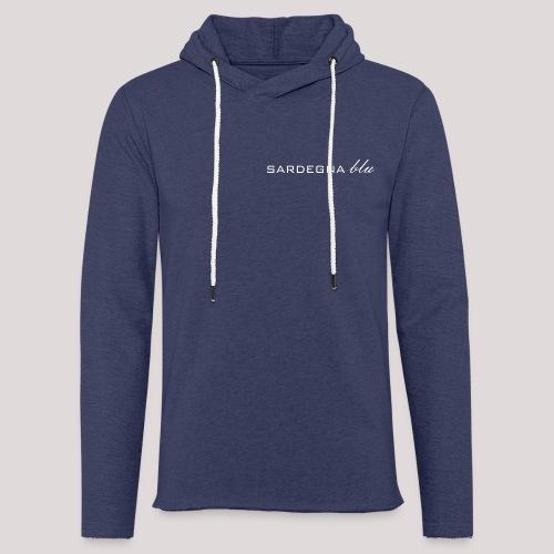 Sardegna blu Schriftzug - Leichtes Kapuzensweatshirt Unisex