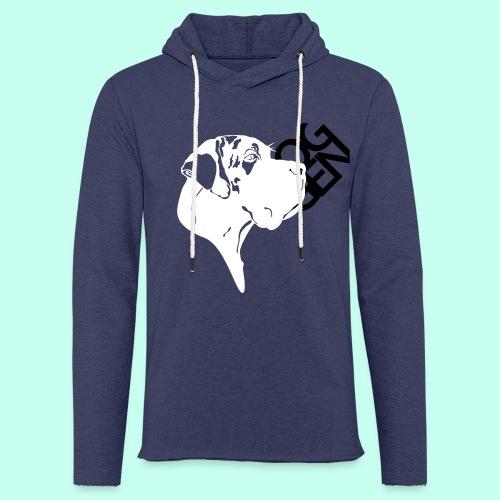 Gefleckter Doggenkopf komplex - Leichtes Kapuzensweatshirt Unisex