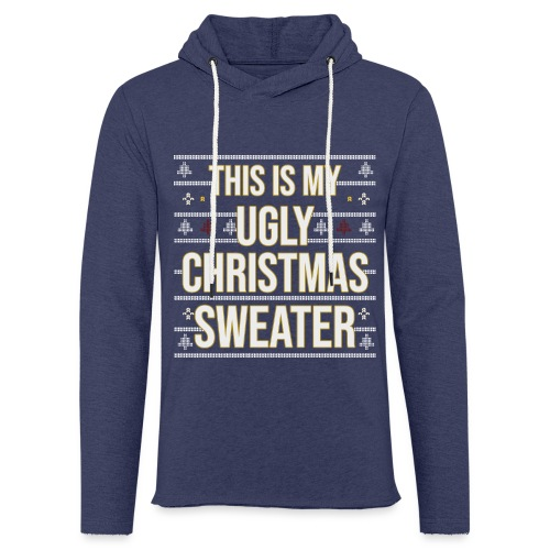 Ugly xmas Christmas Weihnachten Sweater Lustig - Leichtes Kapuzensweatshirt Unisex
