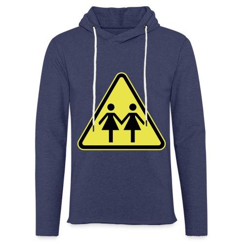 ACHTUNG LESBEN POWER! Motiv für lesbische Frauen - Leichtes Kapuzensweatshirt Unisex
