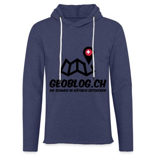 Logo+Schriftzug-hoch - Leichtes Kapuzensweatshirt Unisex