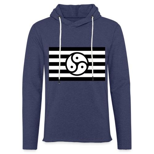 Frauen/Herrinnen T-Shirt BDSM Flagge SW - Leichtes Kapuzensweatshirt Unisex