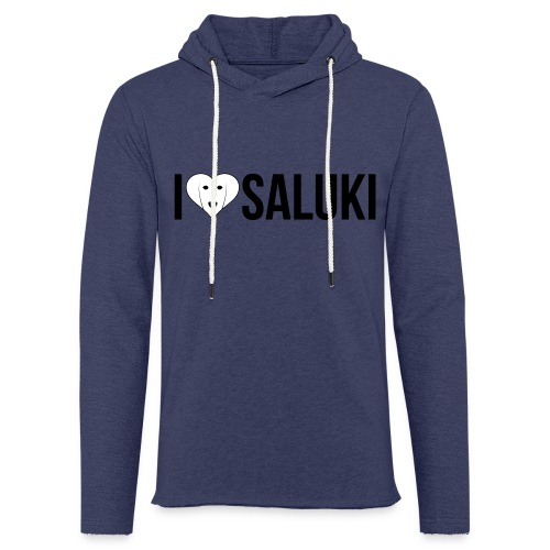 I Love Saluki - Felpa con cappuccio leggera unisex