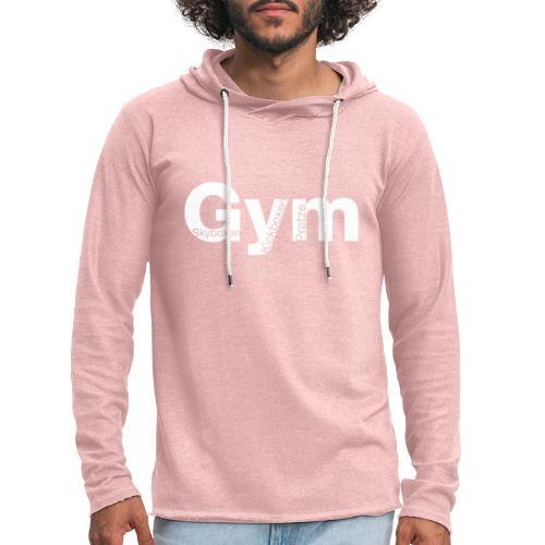Gym weiß - Leichtes Kapuzensweatshirt Unisex