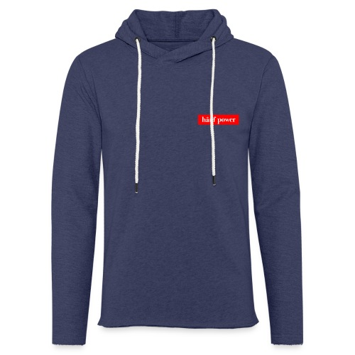 Hanf Power RED - Leichtes Kapuzensweatshirt Unisex