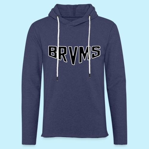BRVMS Black&White - Sweat-shirt à capuche léger unisexe