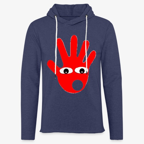 Hände mit Augen - Sweat-shirt à capuche léger unisexe