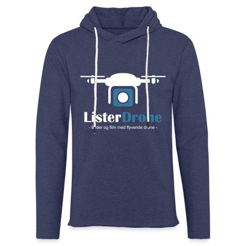 ListerDrone logo - Lett unisex hette-sweatshirt