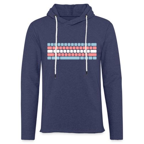 Trans Pride Keyboard - Lichte hoodie unisex