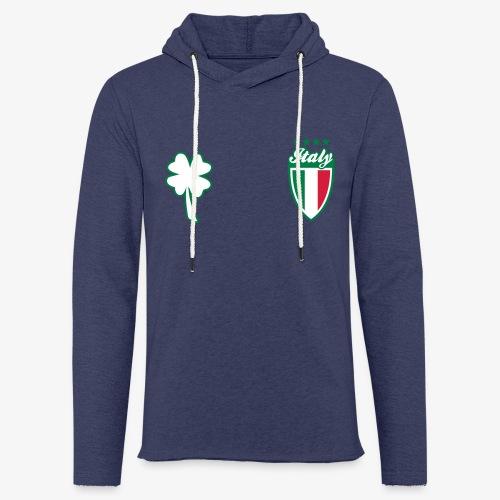 Italia Scudo e trifoglio - Felpa con cappuccio leggera unisex