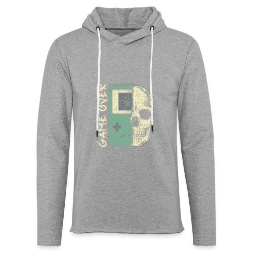 Game over Gaming Spruch Outfit für Zocker Gamer - Leichtes Kapuzensweatshirt Unisex