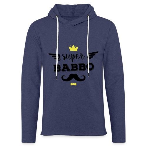 Super Babbo - Felpa con cappuccio leggera unisex