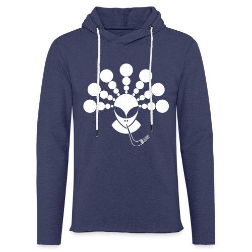 The Smoking Alien White - Light Unisex Sweatshirt Hoodie