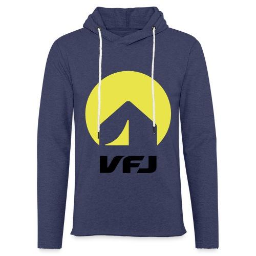 VfJ Logo 2013 shriftschwa - Leichtes Kapuzensweatshirt Unisex