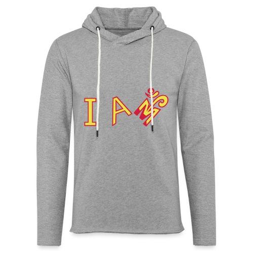Jeg er Om - Let sweatshirt med hætte, unisex