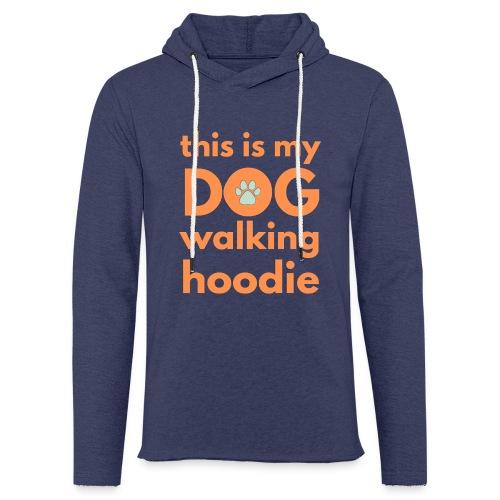 Flott og morsomt motiv til hundeeier - Lett unisex hette-sweatshirt