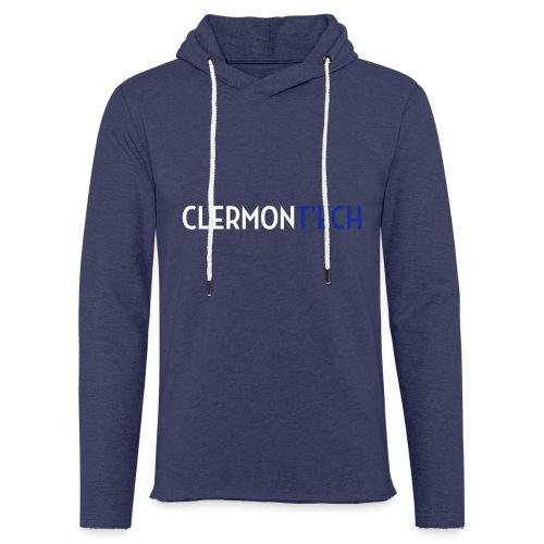 Clermont ech two colors - Sweat-shirt à capuche léger unisexe