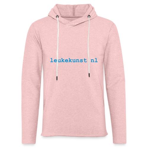 leukekunstlogo - Lichte hoodie unisex