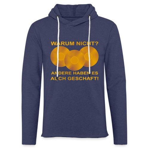 Goldene Schallplatte - Leichtes Kapuzensweatshirt Unisex