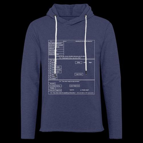9-Line weiss - Leichtes Kapuzensweatshirt Unisex