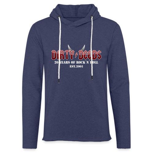 Dirty Deeds 20 Anniversary Druck f dunkel - Leichtes Kapuzensweatshirt Unisex