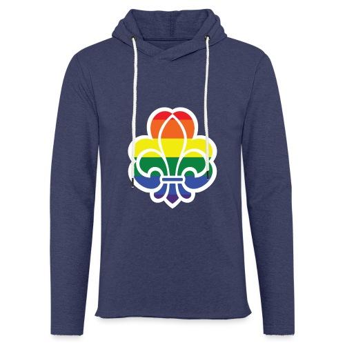 Regnbuespejder jakker og t-shirts mv - Let sweatshirt med hætte, unisex
