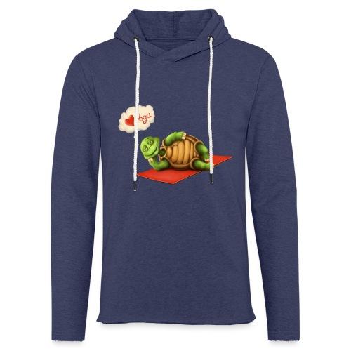Love-Yoga Turtle - Leichtes Kapuzensweatshirt Unisex