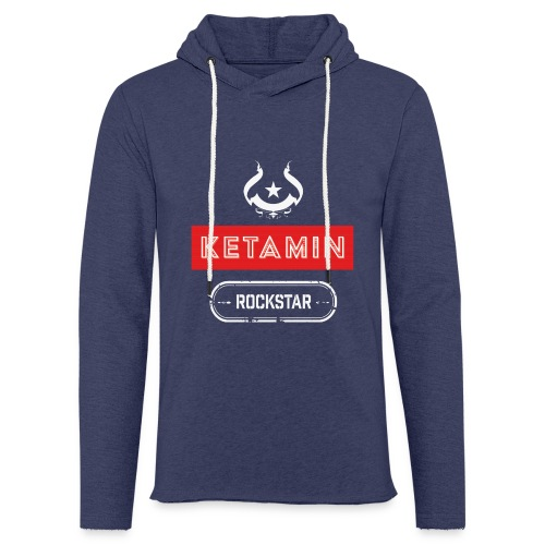 KETAMIN Rock Star - Weiß/Rot - Modern - Light Unisex Sweatshirt Hoodie