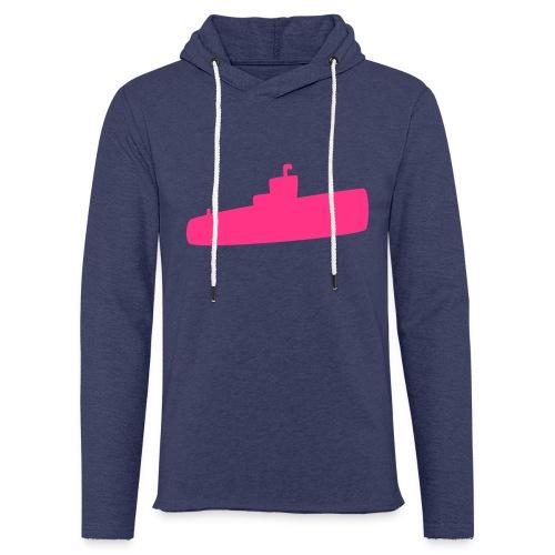 Rosa U-Boot - Leichtes Kapuzensweatshirt Unisex