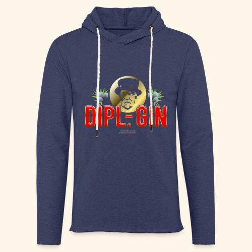 Gin T Shirt Design Dipl.-Gin - Leichtes Kapuzensweatshirt Unisex