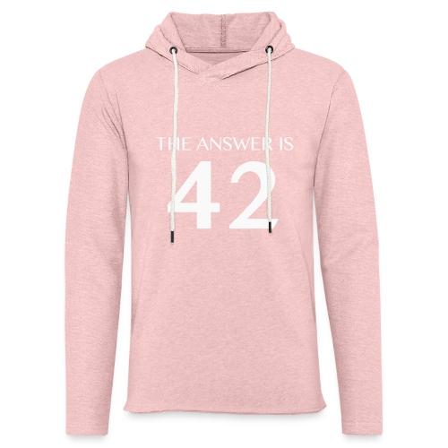 The Answer is 42 White - Light Unisex Sweatshirt Hoodie