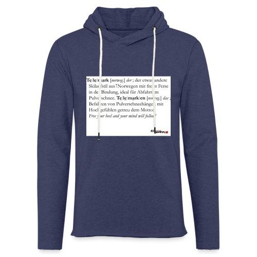 Telemark - die Definition - Leichtes Kapuzensweatshirt Unisex