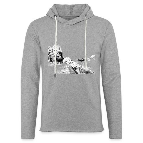 J'aime Mouleydier - Pont F - Sweat-shirt à capuche léger unisexe