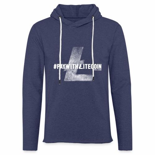 #paywithlitecoin - Felpa con cappuccio leggera unisex