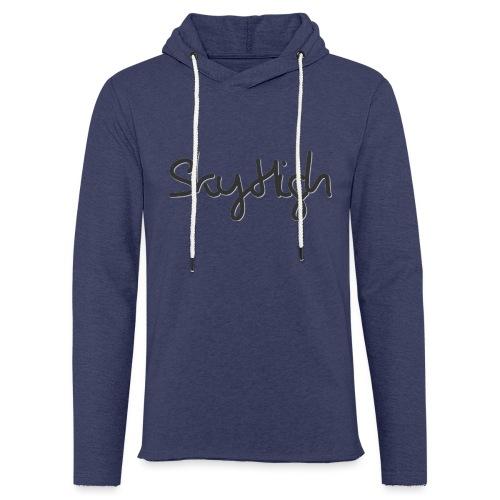 SkyHigh - Men's Premium Hoodie - Black Lettering - Light Unisex Sweatshirt Hoodie