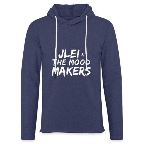 Jlei & The Mood Makers Schriftzug Weiss - Leichtes Kapuzensweatshirt Unisex
