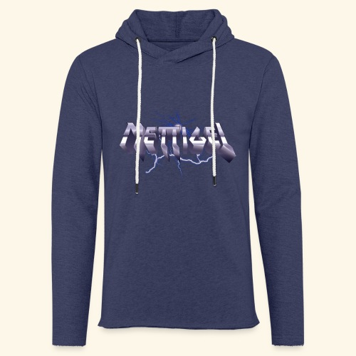 Mettigel T Shirt Design Heavy Metal Schriftzug - Leichtes Kapuzensweatshirt Unisex