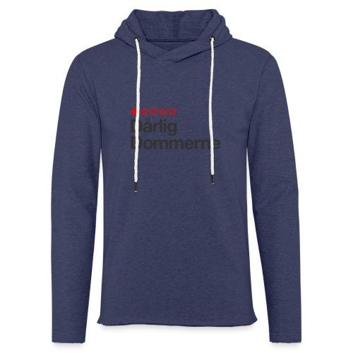 Dårligdommerne Sort tekst - Let sweatshirt med hætte, unisex
