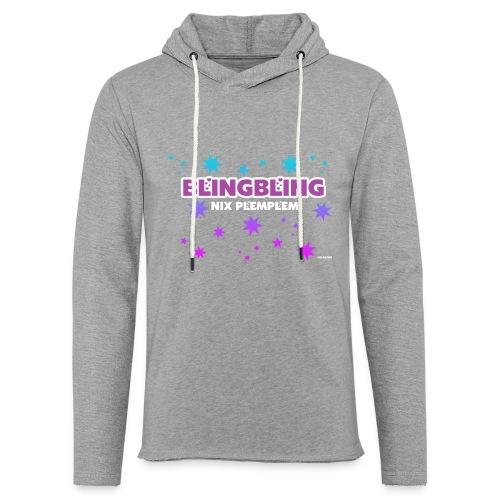 blingbling nixplemplem - Leichtes Kapuzensweatshirt Unisex