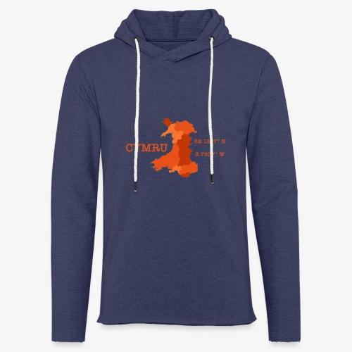 Cymru - Latitude / Longitude - Light Unisex Sweatshirt Hoodie