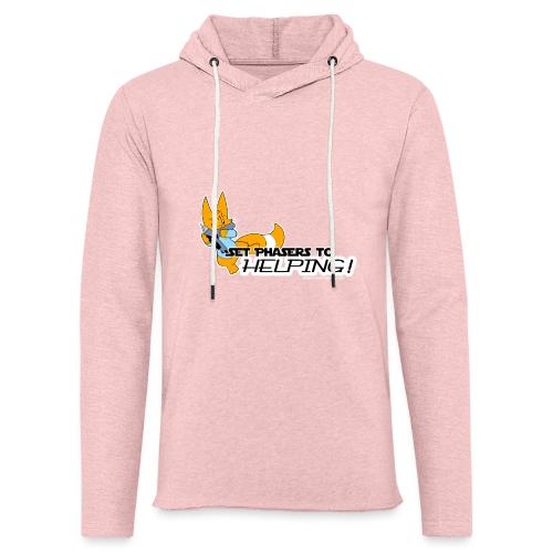 Set Phasers to Helping - Light Unisex Sweatshirt Hoodie