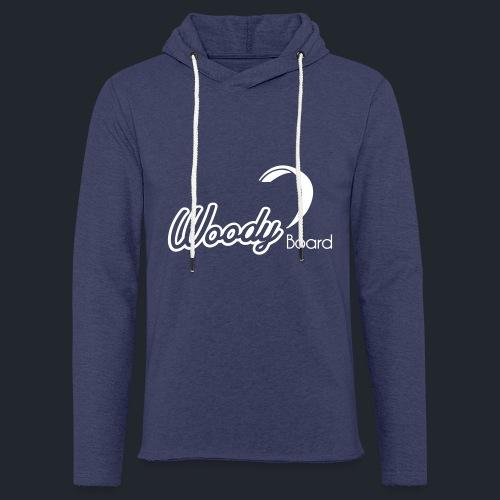 Logo Woodyboard Blanc - Sweat-shirt à capuche léger unisexe